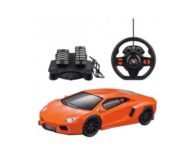 Carro de Controle Remoto Multikids Racing Control Nitro - Laranja