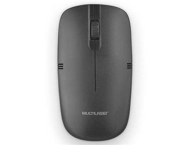 Mouse Sem Fio Multilaser MO285 2.4GHZ USB Preto - 2