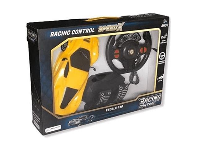 Carrinho de Contole Remoto Mulikids Racing Control SpeedX Amarelo - 3