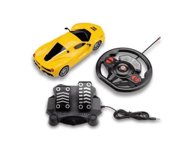 Carrinho de Contole Remoto Mulikids Racing Control SpeedX Amarelo