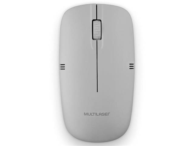 Mouse Sem Fio Multilaser MO287 2.4GHZ USB Cinza - 2