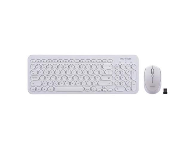 Teclado e Mouse Multilaser TC232 Sem Fio 2.4 Ghz Multimídia Branco - 1