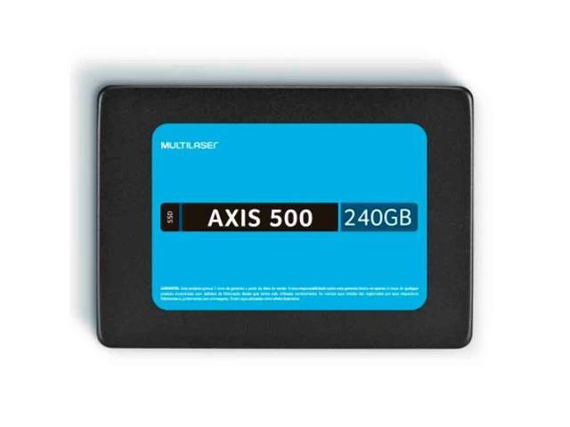SSD Multilaser SS200 240GB Axis 500 Gravação 500 Mb/S 2,5 Pol - 1