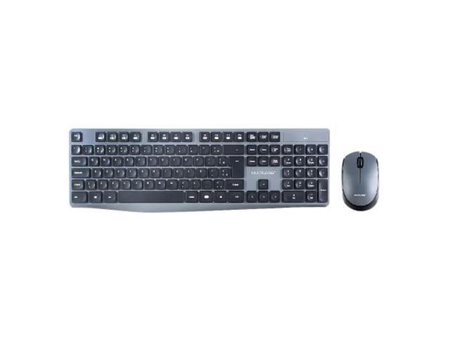 Teclado e Mouse Multilaser TC245 Sem Fio 2.4 GHZ USB Preto/Cinza - 1
