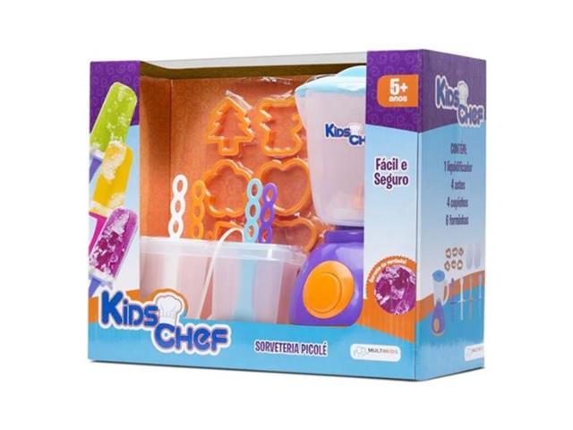 Sorveteria Multikids BR110 Picolé Kids Chef com Acessórios