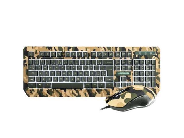 Combo Teclado e Mouse Warrior TC249 Kyler Gamer Army Camuflado - 1