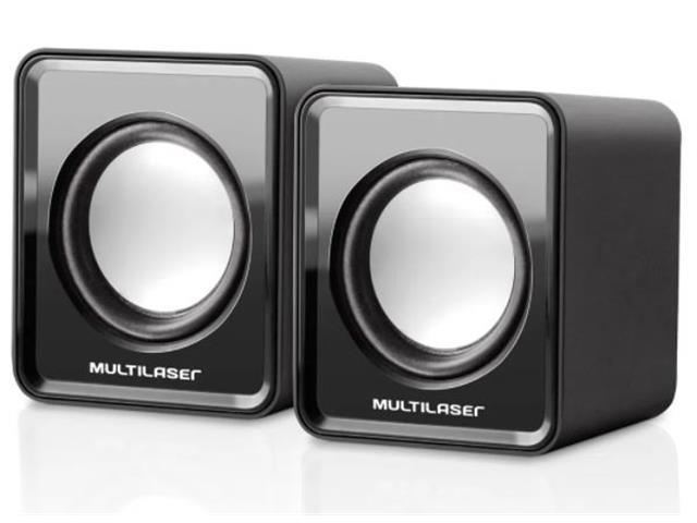 Caixa de Som Multilaser SP144 20 Mini 3W RMS Preta