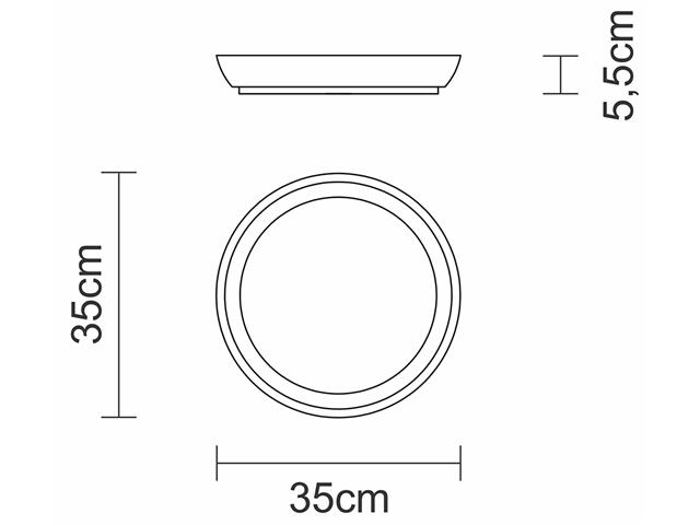 Gamela Redonda para Churrasco Tramontina 35cm - 1