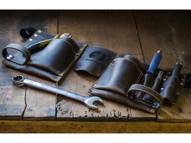 Cinturon para herramientas en cuero genuino