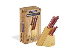 Juego de cuchillos Polywood c/láminas acero inox 6 piezas, Tramontina