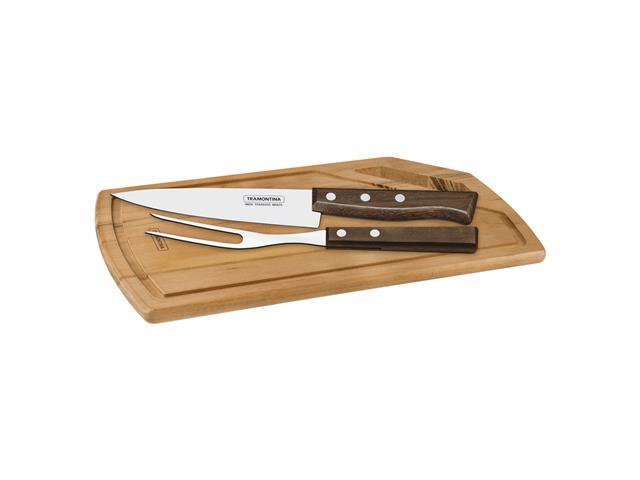 Kit para asado de acero inox 3 piezas, Tramontina