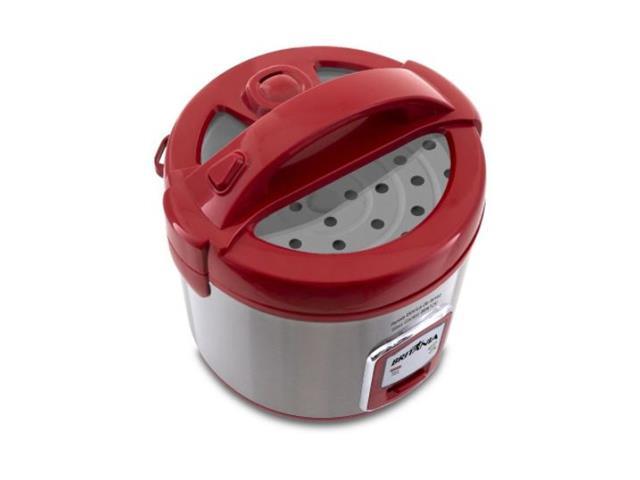 Panela de Arroz Elétrica Britânia Glass Cooker Vermelha 110V - 1