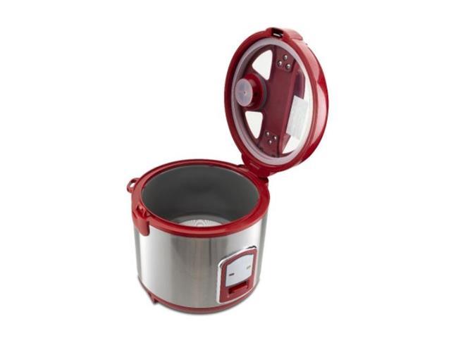 Panela de Arroz Elétrica Britânia Glass Cooker Vermelha 110V - 4