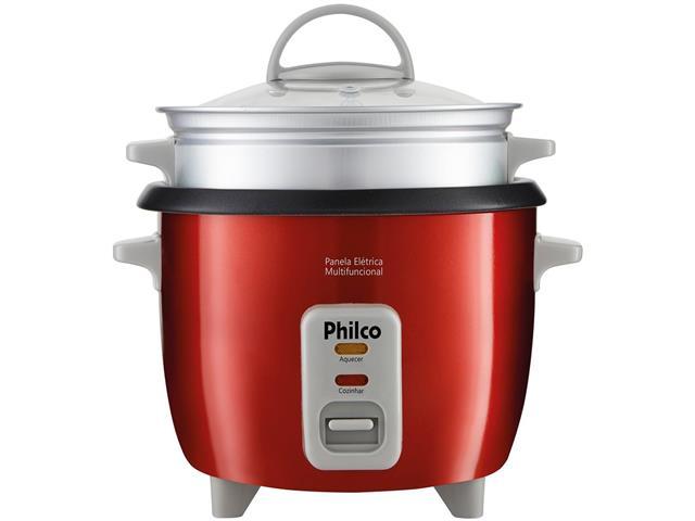Panela Elétrica Philco PPA3V Multifuncional Vermelha 350W 220V - 1
