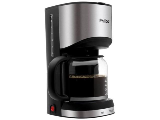 Cafeteira Elétrica Philco PH41 Preto com Prata 30 Cafezinhos