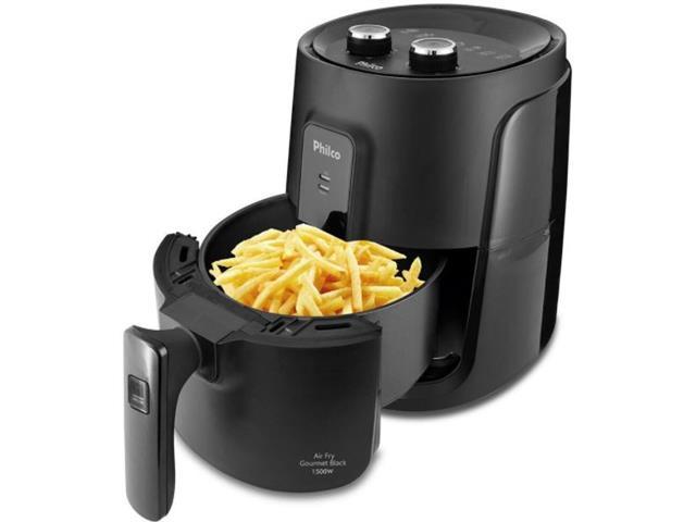 Fritadeira Elérica Philco PFR15P Air Fry Gourmet Black 1500W