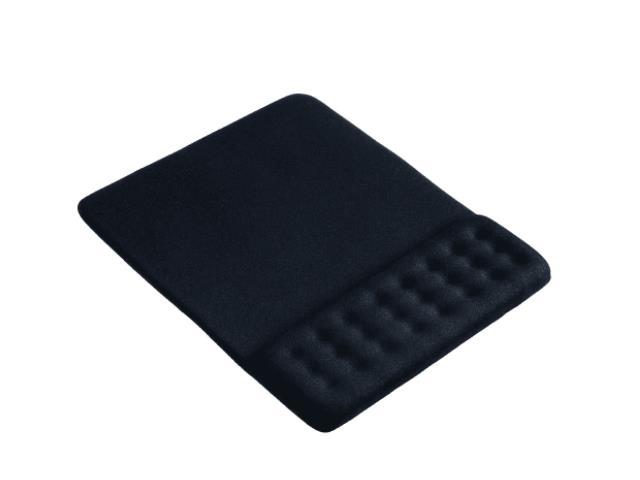 Mouse Pad Multilaser Dot AC365 com Apoio de Pulso Gel Preto - 1
