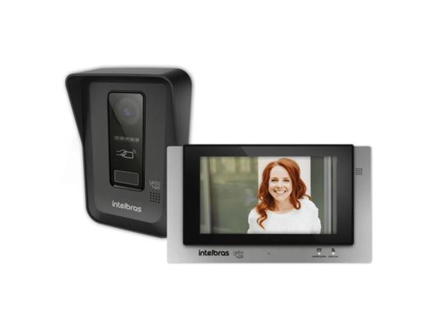 Video Porteiro Wi-Fi Intelbras Allo Wt7 com Display Preto