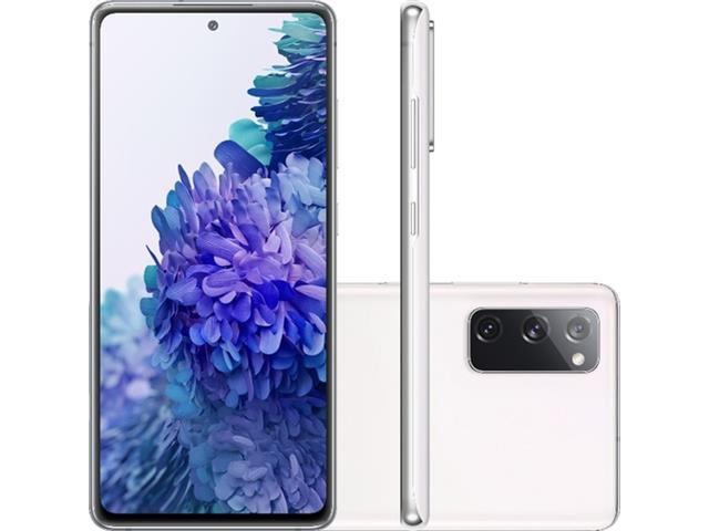 "Smartphone Samsung Galaxy S20FE 256GB 4G 6.5"" 8GB RAM 12+12+8MP Branco"