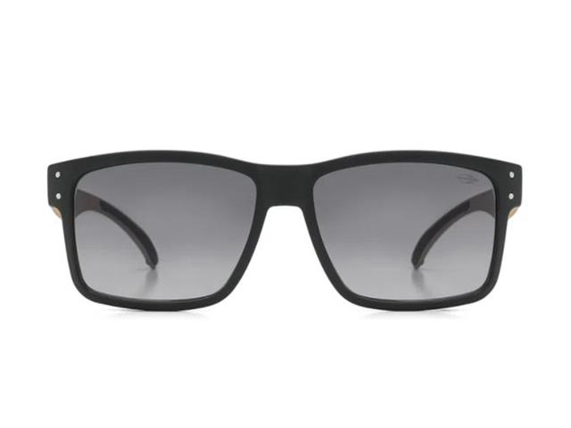 Óculos de Sol Mormaii Mumbai Preto Fosco Madeira - 1