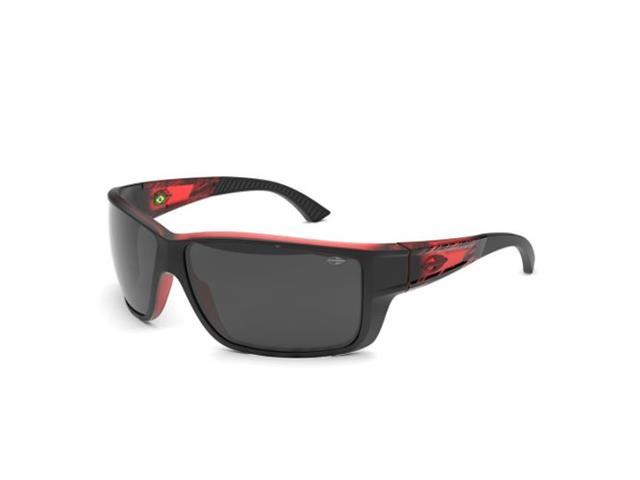 Óculos de Sol Mormaii Joaca III Preto com Vermelho Lentes Fosca Cinza