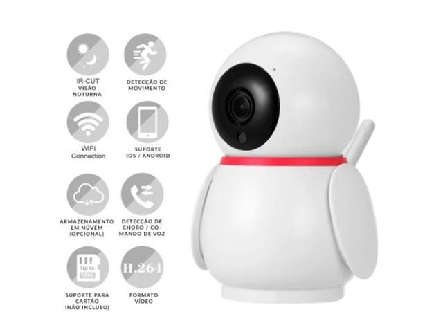 Câmera Inteligente Wifi Ekaza Full HD 2MP Rastreamento de Movimento
