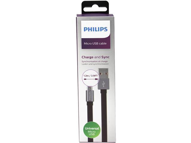 Cabo com Conector Philips Tipo USB para Micro USB Premium Preto 120CM - 5