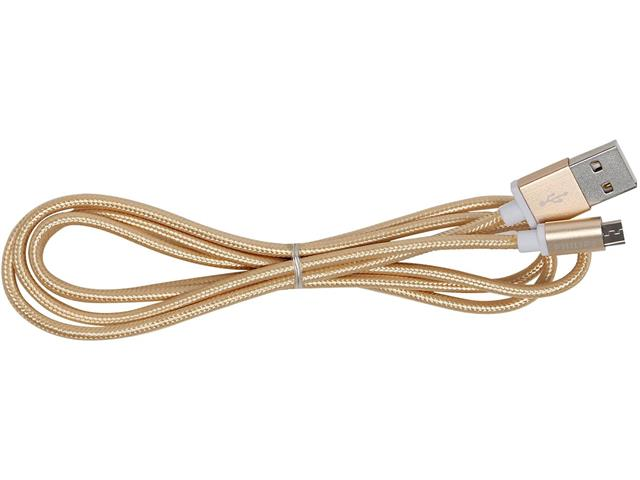 Cabo com Conector Philips Tipo USB para Micro USB Dourado 120CM - 3