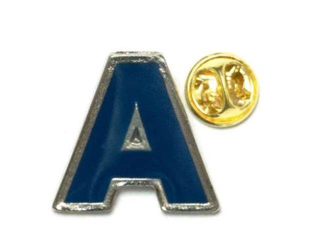 """Pin de Metal Azul Collection com Saco de Veludo Modelo """"A"""""""