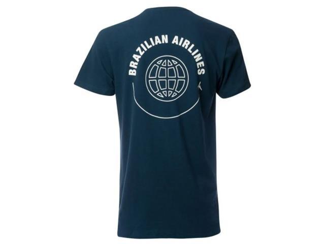 Camiseta Azul Collection Brazilian Airlines Azul Marinho G - 1
