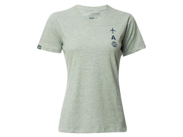 Camiseta Feminina Azul Collection Brazilian Airlines Cinza Mescla PP
