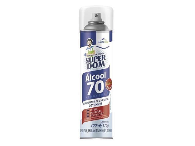 Álcool Aerosol Super Dom Higienizador 70% 300ML