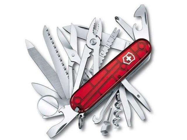 Canivete Victorinox SwissChamp Vermelho Translúcido