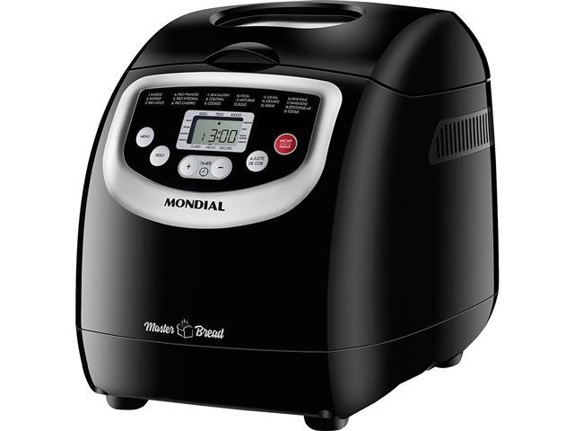 Panificadora Automática Mondial Master Bread Preta 700W 110V