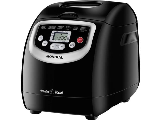 Panificadora Automática Mondial Master Bread Preta 700W 220V