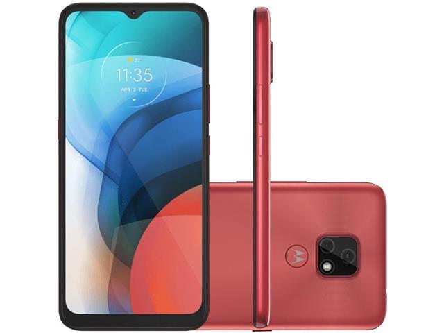 """Smartphone Motorola Moto E7 Cobre 64GB, 4GB RAM, Tela de 6.5"""", Câmera Traseira Dupla, Android 10 e Processador Octa-Core"""