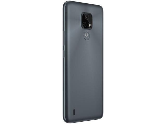 """Smartphone Motorola Moto E7 64GB Duos Tela 6.5"""" 4G Câm 48+2MP Cinza - 6"""