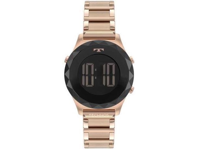 Relógio Feminino Digital Technos Crystal Rosé BJ3851AC/4P