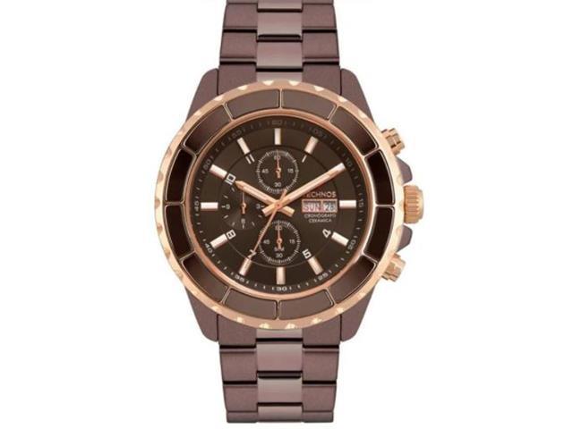 Relógio Masculino Technos Ceramic Marrom OS00AD/5M