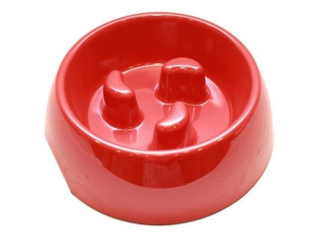 Plato Melamina Anti-Ahogo Talla XL Rojo Perro Mascan
