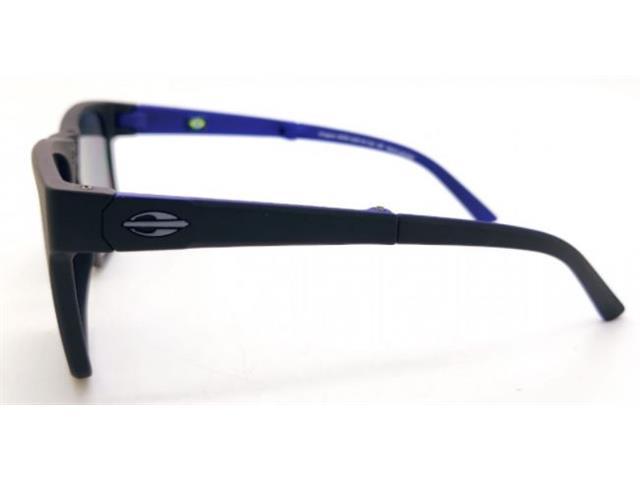 Óculos de Sol Mormaii Origami Dobrável Preto Fosco e Azul - 3