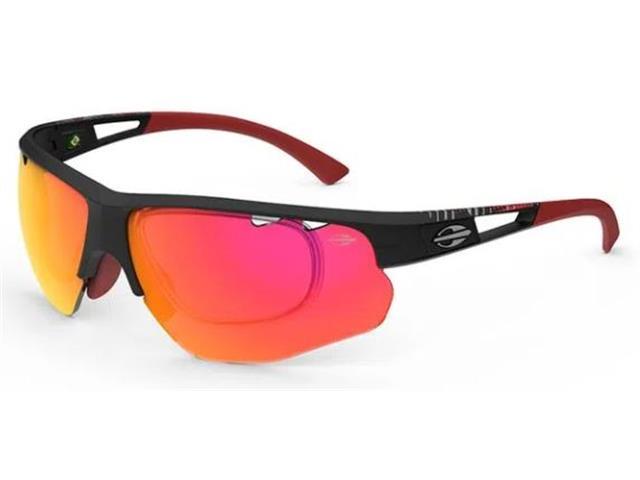 Óculos de Sol Mormaii Eagle Preto Fosco com Lente Vermelha