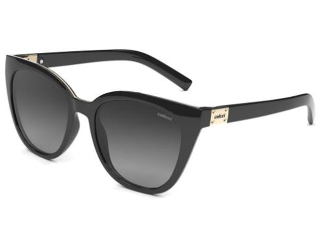 Óculos de Sol Colcci Jane Preto Lentes Cinza Degradê
