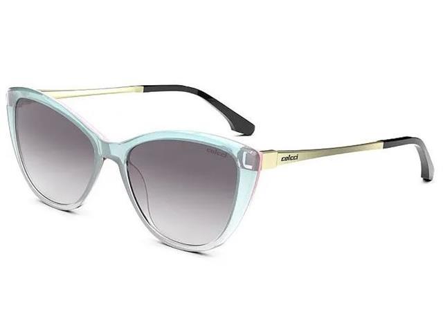 Óculos de Sol Colcci Agatha Solar Azul Parede Rosa Lente Cinza