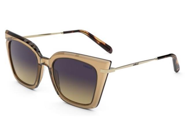 Óculos de Sol Colcci Dani Marrom Brilho Dourado Lente Roxo Degradê