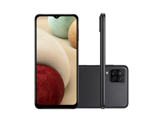"""Smartphone Samsung Galaxy A12 Preto 64GB, Tela Infinita de 6.5"""", Câmera Quádrupla, Bateria 5000mAh, 4GB RAM e Processador Octa-Core - 2"""