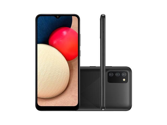 "Smartphone Samsung Galaxy A02s 32GB Tela 6.5""Câm Tripla 13+2+2MP Preto"