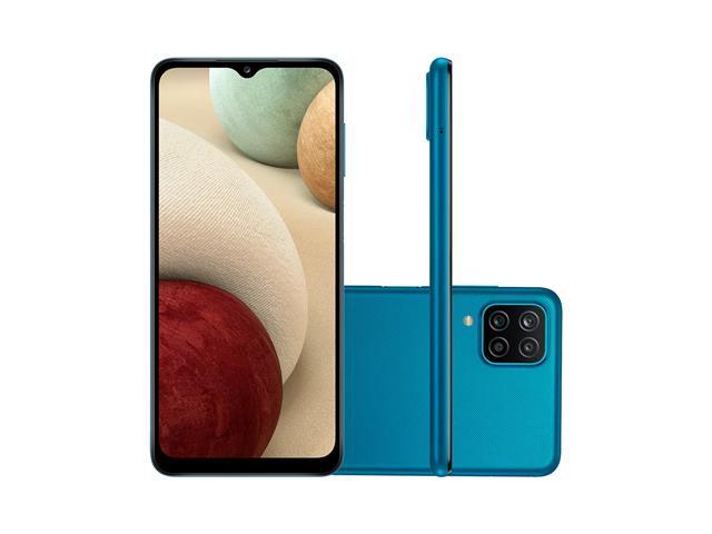 """Smartphone Samsung Galaxy A12 Azul 64GB, Tela Infinita de 6.5"""", Câmera Quádrupla, Bateria 5000mAh, 4GB RAM e Processador Octa-Core - 1"""