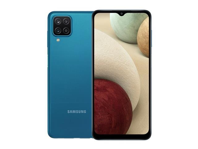 "Smartphone Samsung Galaxy A12 64GB 4G 6.5"" Quad Câm 48+5+2+2MP Azul"