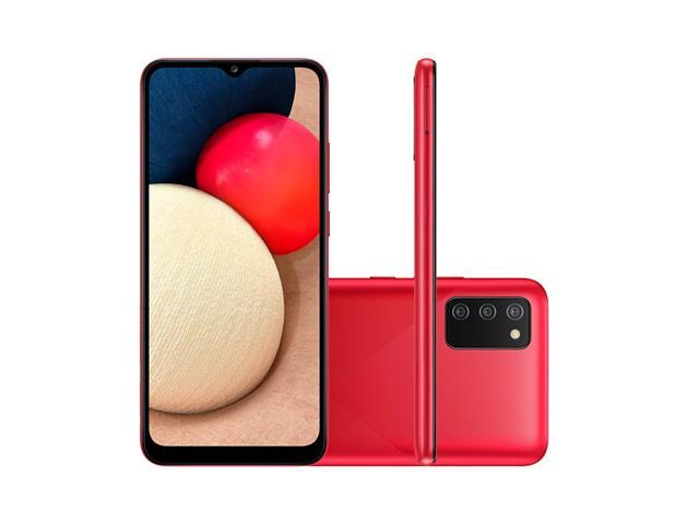 """Smartphone Samsung Galaxy A02s 32GB 6.5"""" Câm Tripla 13+2+2MP Vermelho"""